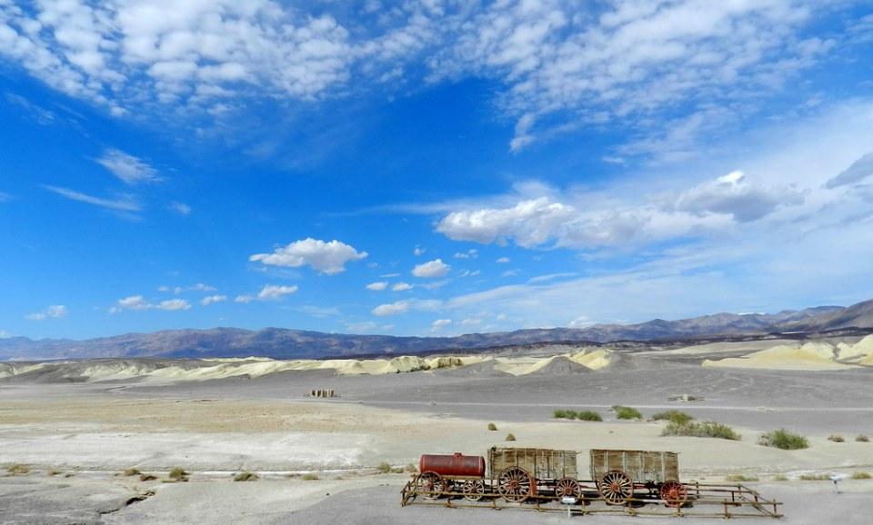 Carro de 18 mulas y dos caballos Harmony Borax Work Valle de la Muerte California EEUU 06
