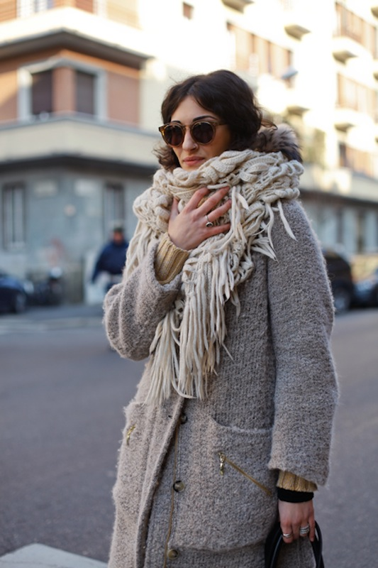 Chunky Knit Scarves How To Wear This Winters Trend Dress Me