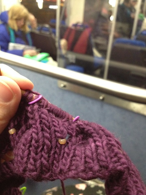 crafting on the bus (and so is that lady across from me) #project365