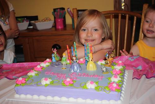 Birthday Girl & Cake