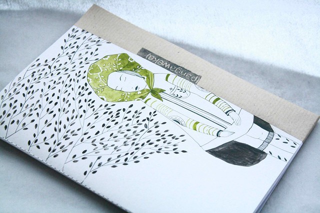 pangaweka hand illustrated notebook green