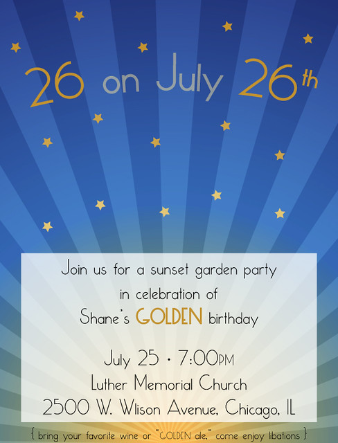 golden birthday invite