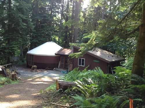 A yurt home on Vashon Island, WA
