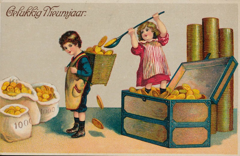 pc geld gelukkig Nwjaar  pm 1910