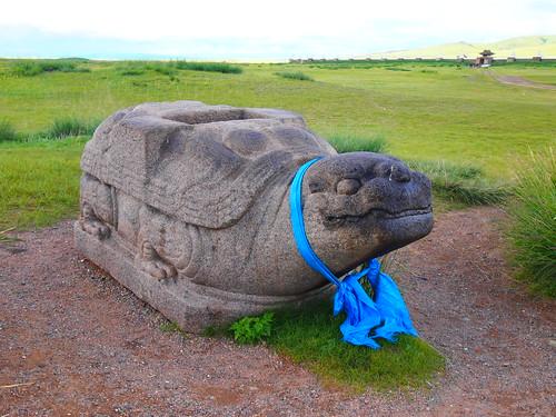 Turtle - symbol outside Kharkhorin temple