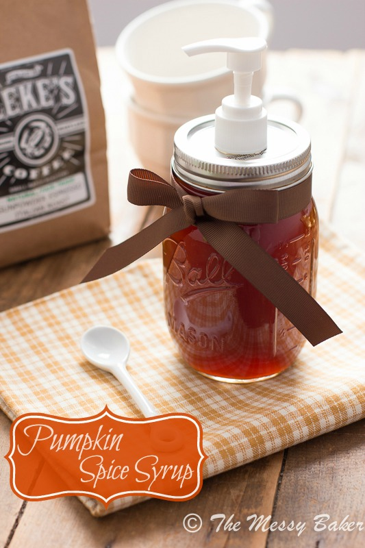 Homemade Pumpkin Spice Syrup  www.themessybakerblog.com -8417