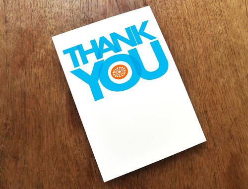 Modern Thank You Card Template