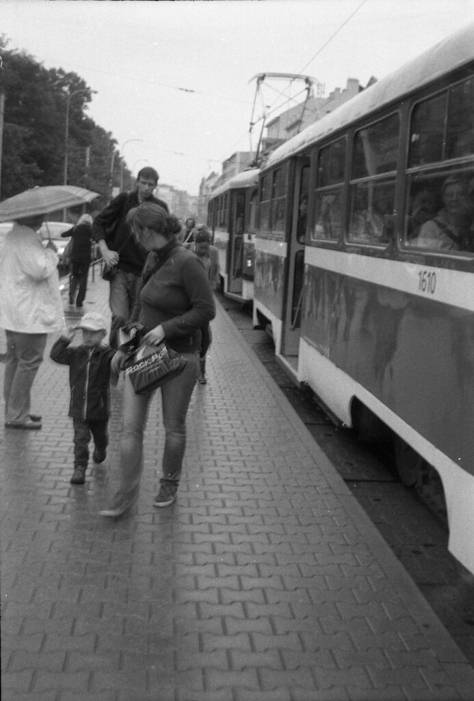 Smena 8M - New Scan - Tram Stop in Rainy Day 1