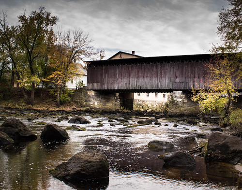 Old Contoocook Railroad Covered Bridge in Contoocook, NH by Christopher OKeefe