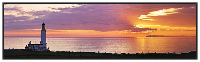 Corsewall Lighthouse Sunset Panorama by 3,6,9 Seconds of Light