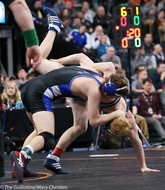145AA - 5th Place Match - Isaac Haman (Kasson-Mantorville) 37-10 won in sudden victory - 1 over AJ Bethea (Hibbing) 32-5 (SV-1 5-3)