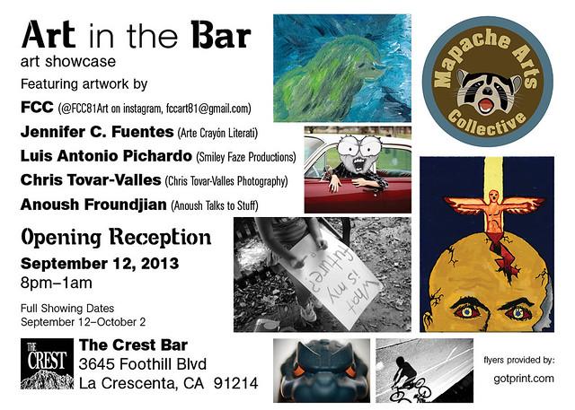 Art in the Bar Flyer