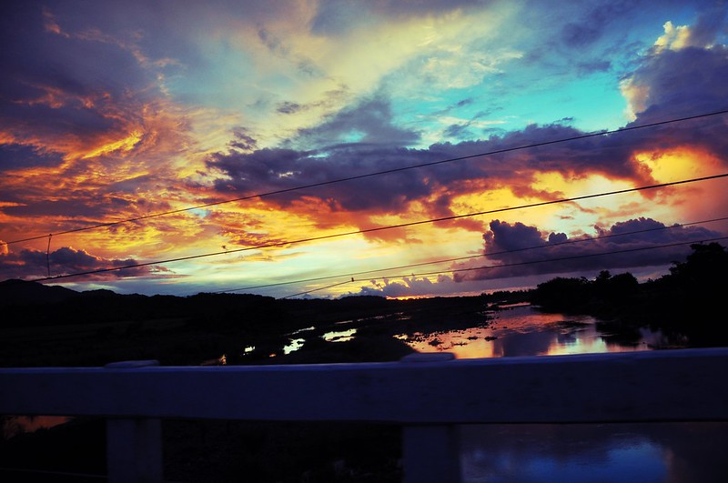 Paint-Splattered Skies