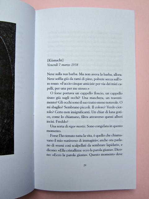 H. D., Fine al tormento. Archinto / RCS 2013. [responsabilità grafica non indicata]. Incipit (part.), 1