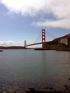 View of the Golden gate Bridge, San Francisco Bay, California.