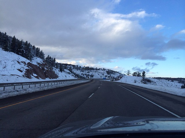 Snow on pass