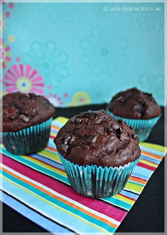 double chocolate banana muffins