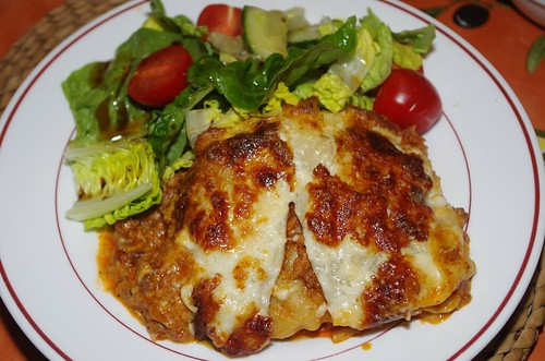 Lasagne and salad with balsamic dressing by La belle dame sans souci