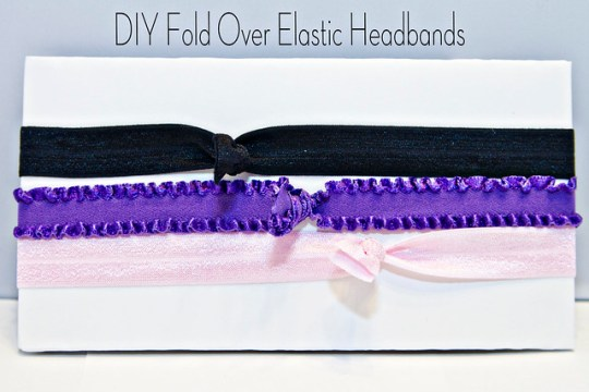 DIY Fold Over Elastic Headbands