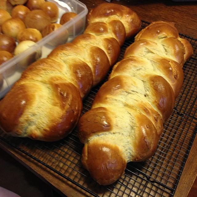 Challah #1 and #2 #food #baking #breadporn