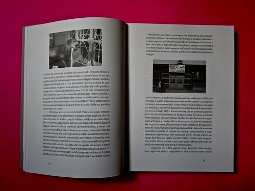 Vincenzo Latromico, Armin Linke, Narciso nelle colonie. Quodlibet Humboldt 2013. Progetto grafico di Pupilla Graphic. Pagine 14 - 15 (part.)