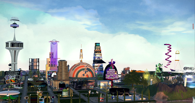 Part of the SL10B Community Celebrations skyline. photographed by Whiskey Monday