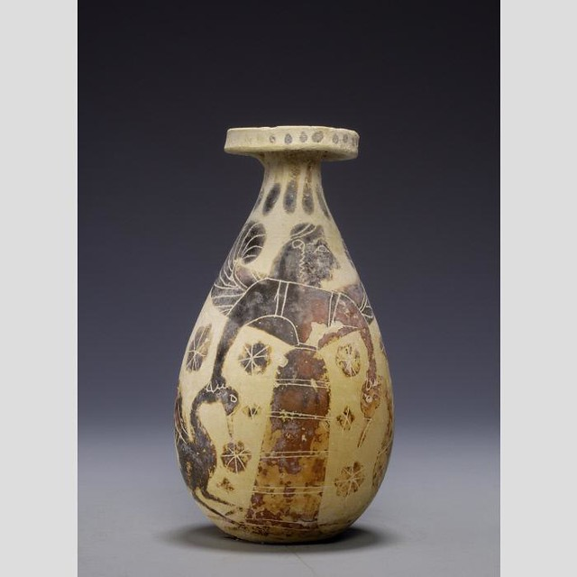 Potnia Theron with geese on Corinthian Alabaston 6thc BC, Nasher Duke Museum, NC