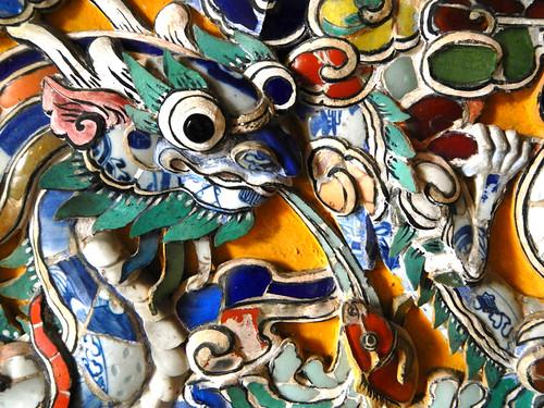 Ceramic mosaic dragon at a Royal Tomb in Hue