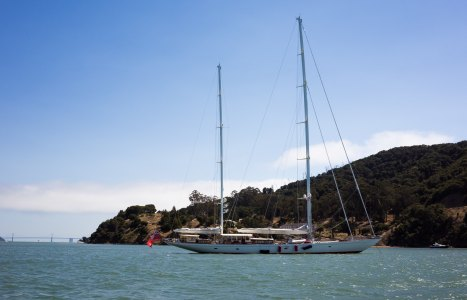Beautiful boat at Angel Island