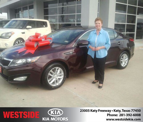 Thank you to Sandra Coleman on your new 2013 Kia Optima from Gil Guzman and everyone at Westside Kia! by Westside KIA