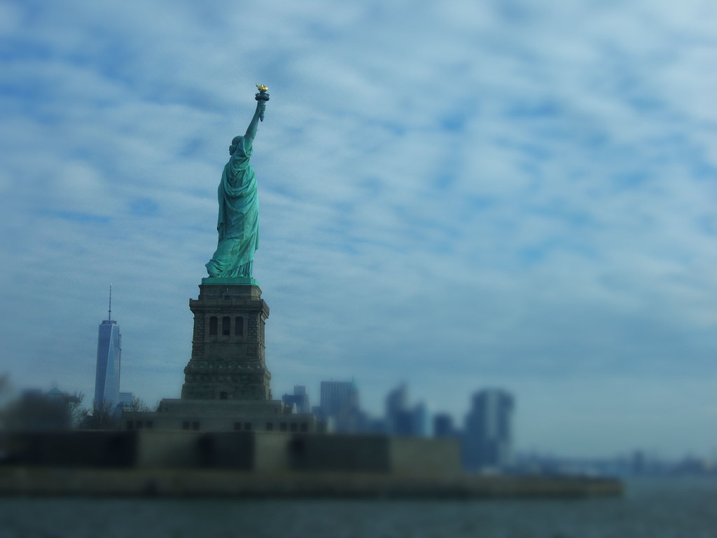 View of Statue and Liberty Tower