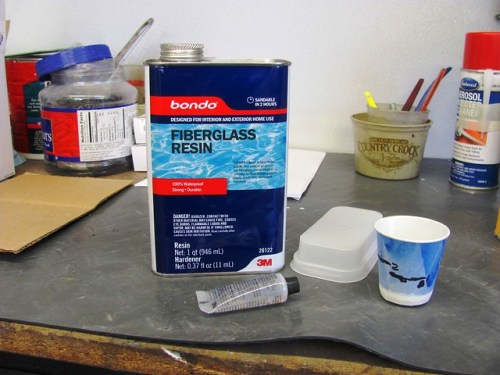 Fiberglass Resin Used to Fill Ground Out Cracks