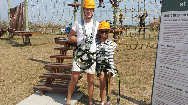fibished the Aerial Walk course at Sandbox Adventure with flying colors
