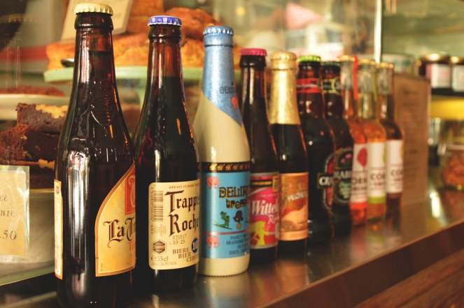 vintage beer bottles, interior inspiration