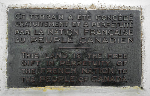 Plaque at Vimy Ridge