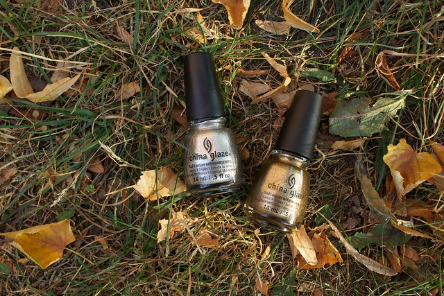 07 china glaze autumn nights collection gossip over gimlets goldie but goodie
