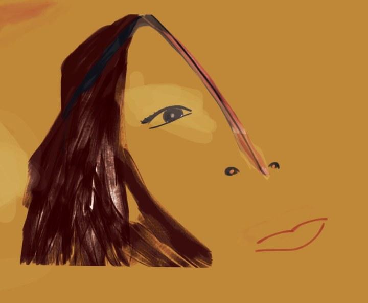 Digital self-portrait painting