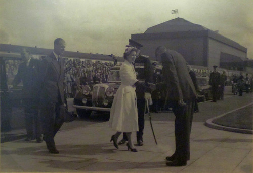 Lackenby Royal Visit, 1956