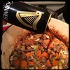 Adding a little #Irish to the #IrishStew w/ #Guinness