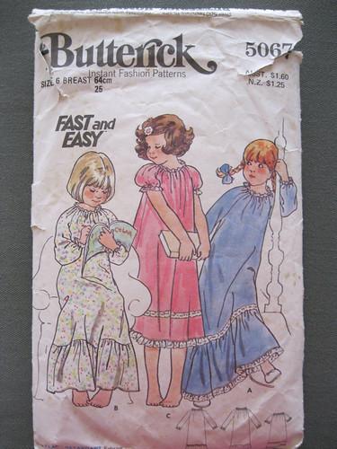 vintage Butterick 5067, size 6