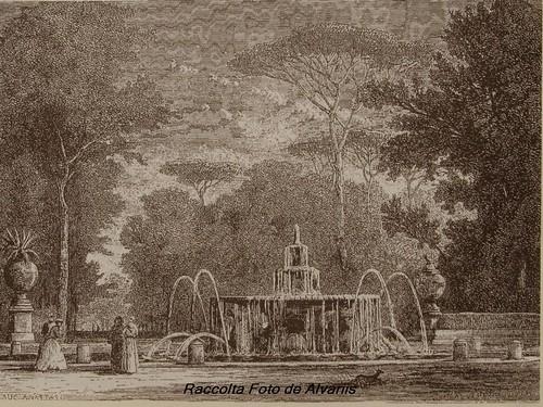 1875 ca 2010 Fontana dei cavalli a Villa Borghese a di Auc Anastasi