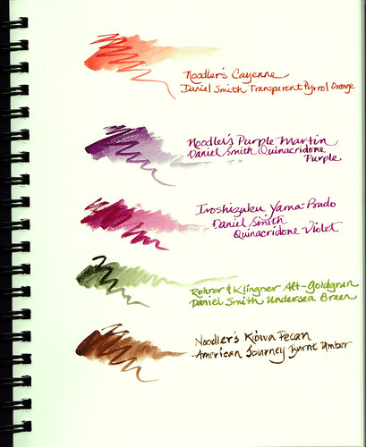 Watercolor and Fountain Pen Ink Duos