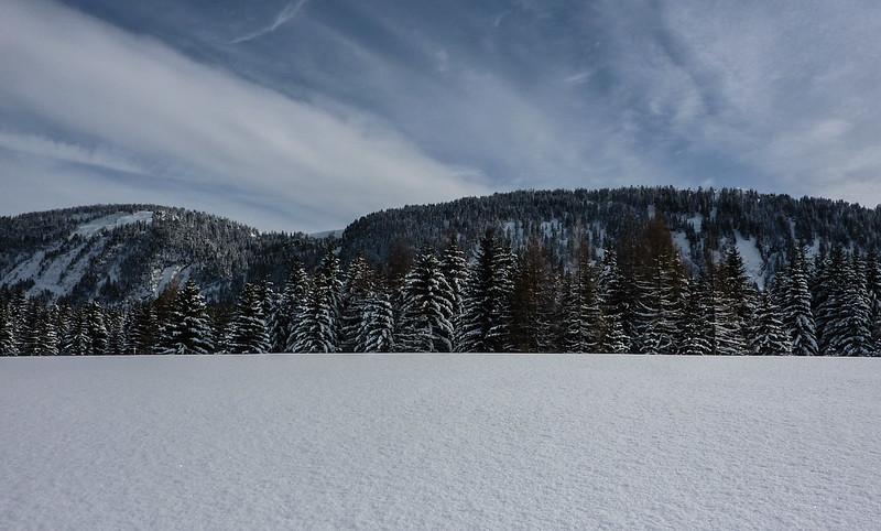 Winter, Plateau des Glières, France
