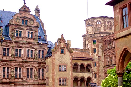 Heidelberg castle from the courtyard by mordtech
