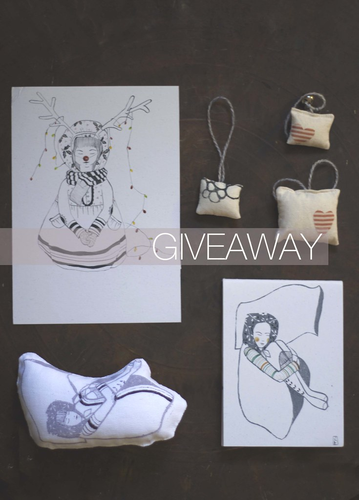 handmade/ illustration/ ornaments Christmas Giveaway