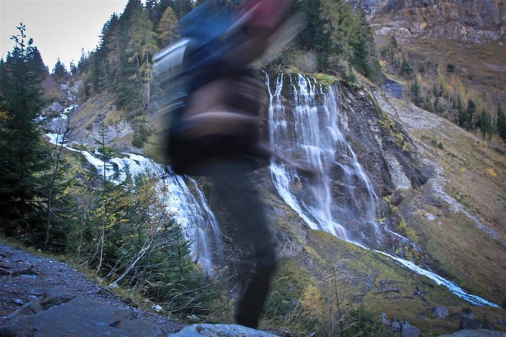 Cascade de Sauffaz. Réserve naturelle Sixt-Fer-à-Cheval. Haute-Savoie. France.