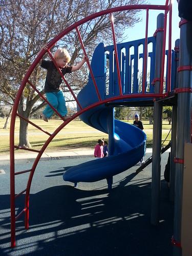 at the playground at Lake Elizabeth by marymactavish