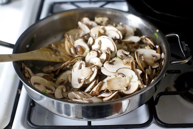 add the mushrooms