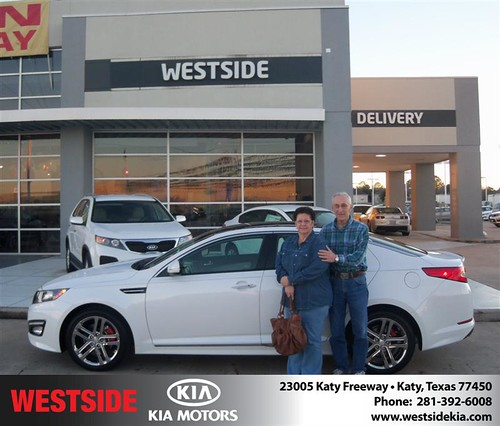 Happy Anniversary to John Mctigue on your 2013 #Kia #Optima from Rizkallah Elhallal and everyone at Westside Kia! #Anniversary by Westside KIA