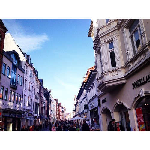 Throwback to a beautiful day.  #flensburg #germany #großestrasse by Madeleine Winnett